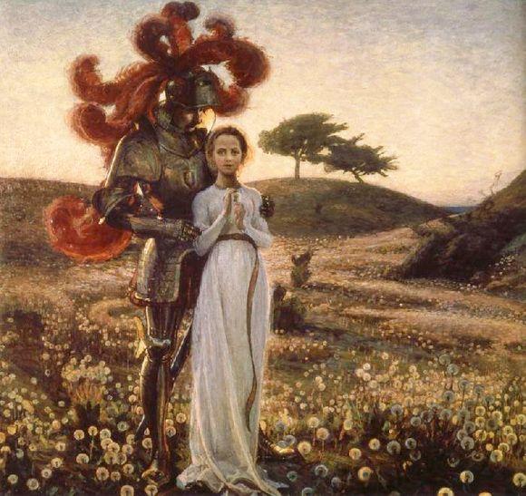 Riddaren-och-Jungfrun,-Richard-Bergh-1897